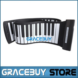 Wholesale Roll Up Electric Piano - Wholesale- USB MIDI Roll Up Foldable Electric Piano Folding 88 Keys189 Tone Portable Rubber Keyboard Electronic Rollup Pianos