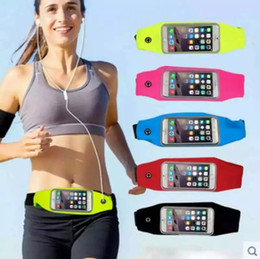 Wholesale Bags For Camping - Waterproof Running Belt For iPhone 7 Plus 6 6S phone Sports Waist Bag Reflective Pouch Breathable Sport Waist Belt Elastic Adjustable Band
