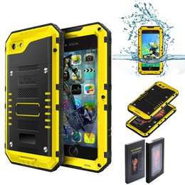 Wholesale Ip68 Case - For iphone 7 Waterproof Case Metal Aluminum Armor Swimming Water Proof Cover For 6   6S 5 Plus Shockproof Cover Seal IP68 Fingerprint Phone