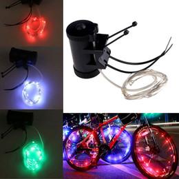 Wholesale Steel Flash Drive - On Sale! Bike Bicycle Wheel Tire Spoke Steel Wire Rim 20 LED Cycling Flash Light DEL_10E
