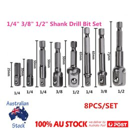 Wholesale Driver Hex - 8Size Socket Adapter Set Driver Hex Shank Drill Bits1 4