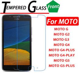 Canada Vente en gros Film protecteur d'écran en verre trempé pour Motorola moto G5 G5 plus G Motorola G2 G3 moto G4 G4-PLUS G4 PLAY Offre