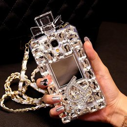 Wholesale Iphone Cases Rhinestones Handmade - 08 Handmade Gorgeous Rhinestone Perfume Bottle Phone Protect Back Cover Cellphone Case For Samsung Galaxy iPhone 5 5s 6 6 Plus