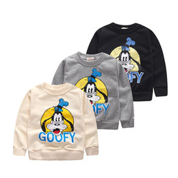 Wholesale Dog Girl Clothing - Wholesale- 2015 new autumn long sleeve cotton dog boys girls hoodies child outwear clothes fashion sweatshirts for kids