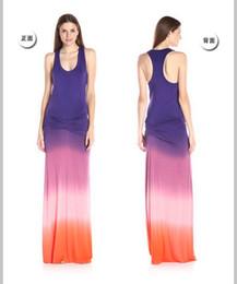 Wholesale Maxi Dresses Silk Chiffon - 2017 hot sales summer plain dyeing silk milk fabric gradual color stretch casual maxi long pencil chiffon dresses