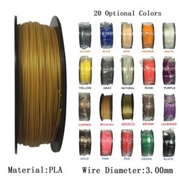 Wholesale 3d printer filament 3mm - 1KG Spool PLA 3mm Filament 3D Printer Filament Plastic Rubber Consumables Material 3d Printer For industrial medical education Material
