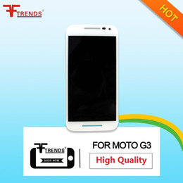 Wholesale Quality Moto - High Quality AAA+++ For Motorola Moto G3 LCD Display+Front Touch Screen Digitizer Sensor Assembly Black White + Repair Tools