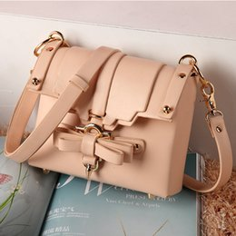Wholesale Crochet Flower Leave - The new 2016 Niels peeraer bowknot aslant bag hand on the left bank of the bill of lading shoulder Xiao female bag jelly bags