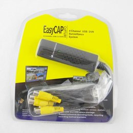 Wholesale Easycap Video - Free shipping Free shipping New USB 2.0 Easycap dc60 tv dvd vhs video adapter capture card Audio AV Capture