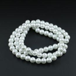 Wholesale Glass Imitation Beads - Glass pearl beads, Czech glass round pearl beads, Pure White Glass Imitation Pearl Bead 4 6 8 10mm wholesale