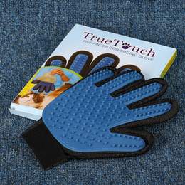 Wholesale Product Retail - Pet GLove Deshedding Pet Glove True Touch For Gentle And Efficient Grooming Removal Glove Bath Dog Cat Brush Comb with retail box