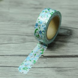 Wholesale Printed Washi Tape - Wholesale- 2016 15mm*8M Gold Foil Printing Lace Japanese Washi Tape Decorative Adhesive Masking Paper Tape DIY Gift Packing For Christmas