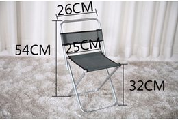 metal chair stool Promo Codes - Wholesale- Metal portable folding stool fishing chair outdoor desk 54*26*32cm sketch with little chair back surface