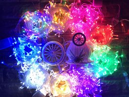 Wholesale Led Outdoor Xmas Lights Wholesale - Fairy string Light Lamp 10M 100 LED Christmas Wedding Xmas Party Decor Outdoor Waterproof 100LED Lights with Plug garden decorations lamps