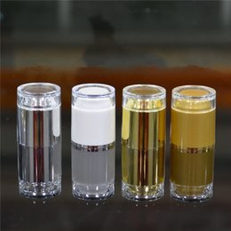 Wholesale Wholesale Empty Bottles For Water - Empty Gold Foil Lotion Emulsion Water Sample Perfume vial 30ml Spray Bottle Small Cosmetic Containers For Travel F2017190