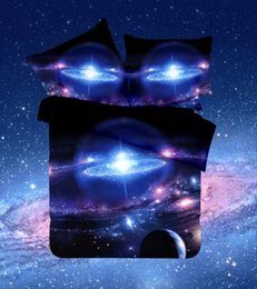 space bedding sets Promo Codes - Wholesale- 2016 NEW Galaxy Bed Set colorful Moon and stars Gorgeous Unique Design Twin,Queen full Universe Outer Space Themed