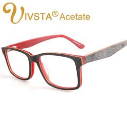Wholesale Retro Brushes - Wholesale- IVSTA Handcrafted Acetate optical frames Wooden Brush Wood Glasses myopia nature Retro Fashion Cat Eye eyeglasses women 3277