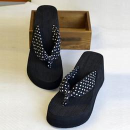 Wholesale Dot Flip Flop - Wholesale-Summer Shoes Women Platform Sandals Wedge Flip Flops Sapato Feminino High Heel slippers Sandalias Mujer Plataforma Chanclas