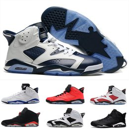 Wholesale Baseball Cat - 2017 air retro 6 men Basketball Shoes Maroon black cat Alternate Hare angry bull Carmine Infrared Oreo sport blue Olympic sports Sneakers