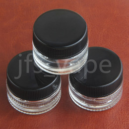 Wholesale Clear Storage Containers - HOT SALE 5ml Clear Trandparent Jars dab wax Vaporizer oil Container Custom Glass Container clear storage jar for wax cosmetic storage