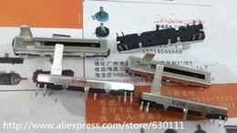 Wholesale Double Mixer - Wholesale-free shipping 10pcs Black 4.5 cm long double mixer fader potentiometer B10K X2