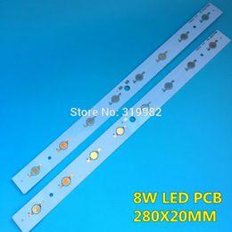 Wholesale 1w led heatsink - Wholesale- 10 Pcs LED High power 1W 3W PCB Board Lamp Panel Aluminum Heatsink 8W 24W Lumen Plate Rectangle LED Light Base 280x20mm