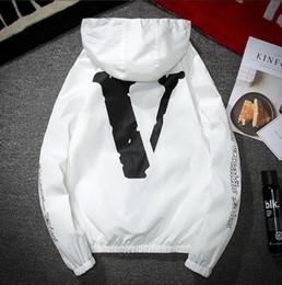 Wholesale Hooded Outerwear Women - VLNOE Jacket Men KANYE Hip Hop Windbreaker TOUR 3 Jackets Men Women Streetwear Fashion Outerwear uniform coat black White YEEZUS Jacket 5XL