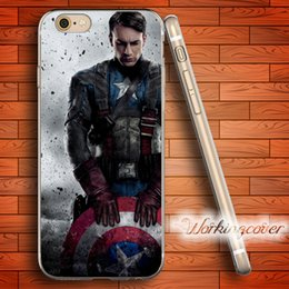 Wholesale Iphone 5s Captain America Case - Capa Captain America Shield Soft Clear TPU Case for iPhone 7 6 6S Plus 5S SE 5 5C 4S 4 Case Silicone Cover.