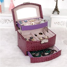 Wholesale Brushes Carry Case - GENBOLI Professional Makeup Boxes Case Leather Jewelry Casket Brushes Eyeshadow Pallete Carrying Storage Organizer Display