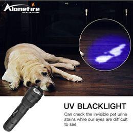 Wholesale Ultraviolet Lamp Uv Light - AloneFire 502B UV Flashlight Purple Light Ultraviolet Luxeon 395-400nm UV LED Torch Light Lamp