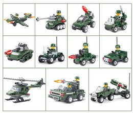 Wholesale Military Toys Tanks - Military city Series building blocks Helicopter Tank Building Blocks Best Kids Xmas Gifts City Construction Blocks Toy for Children Gift