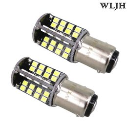 Wholesale Rear Stop Brake Lights - WLJH Canbus 10W P21 5W 1157 2057 7528 BAY15D Car LED Light Bulbs Automobiles Tail Reverse DRL Turn Signal Bulbs Stop Break Lamp