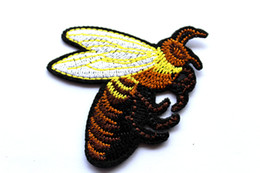 Wholesale T Shirt Decoration - Bee patch Embroidery iron on patch Decoration Accessories Embroidered patch for clothing for T-shirt Embroidered Appliques Sewing Sticker