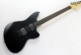 Wholesale Electric Guitar Matte Black - Wholesale-Matte Black Body Electric Guitar with 2 Humbucker Open Pickups,Offer Customized