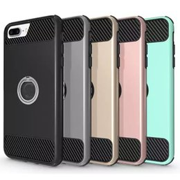 Wholesale Rotation Case - For iPhone 7 Case 2In1 Hybrid Defender Rugged Shockproof Case Cover With 360 Rotation Kickstand For iPhone 7 7plus