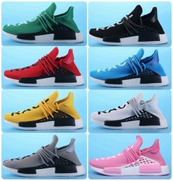 Wholesale Slip Basketball Shoes - NMD Human race Runner Boost shoes Pharrell Williams x Men & Women lassic Cheap Fashion Races Sports running Shoes Runner