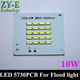 Wholesale Advertising Landscaping - Wholesale- 10pc LED Flood Light PCB 5730 SMD Chip plate resource DC18-36V Floodlight white outdoor landscape advertising Lamp 10w free ship