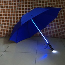 Wholesale Wholesale Led Swords - New 2017 Star Wars LED Lightsaber Umbrella Laser Sword with 7 Color Changing On the Shaft Built in Torch at Bottom