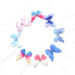 Wholesale Stealth Plates - 100pcs lot mixed color Beautiful Butterfly Tattoo Choker Stealth Women Fishing Line Neck Necklace New Designer Crystal Sexy Beach