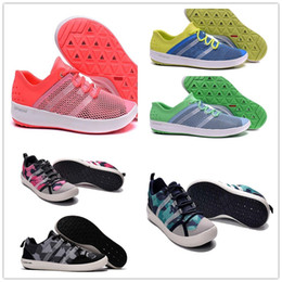 Wholesale Hard Grip - 2017 New Discount Outdoor Boat CC Lace Water Shoe Cheap Fashion Men Women Blue Black Orange Climacool Water Grip Sneakers 36-44