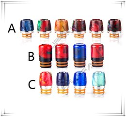 Wholesale Ecig Package - Wide Bore Drip Tips Ecig Epoxy Resin 810 Drip Tips Colorful Vape Cartridges 810 Mouthpiece With Retail Package For Goon Kennedy