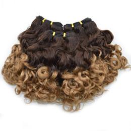 Wholesale Ombre Funmi Hair - Aunty Funmi Hair Cheap Ombre Bouncy Romance Curls Virgin Brazilian Fumi Human Hair Weave Bundles 3pcs lot G-EASY
