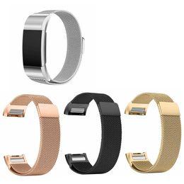 Wholesale Cubic Zirconia Watches - Fitbit Charge2 smart watch bracelet, Milan nice mesh belt, strap, chain wristbands bracelet