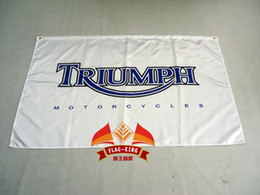 Wholesale File Printing - Wholesale- free shipping triumph flag for car show , can custom print file,90X150CM size,100% polyster,triumph banner