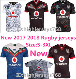 Wholesale Black Star Shirt - 2017 2018 NEW Zealand Warriors Rugby jersey Auckland NRL the star premiership ALL BLACKS RWC Super RUGBY home away rugby Shirts size S-XXXL