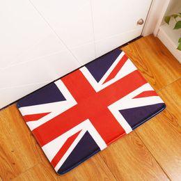 Wholesale Flag Mats - european style entrance doormat uk flag union jack kitchen bathroom carpet rustic london landscape rug floor mat