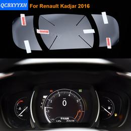 Wholesale car paint film - Car Styling Car Dashboard Paint Protective PET Film For Renault Kadjar 2016 Light transmitting 4H Scratchproof Accessories