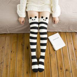 Wholesale Winter Sleeping Socks - Winter Coral Fleece Over Knee Socking Thick Socks Floor Lady Sleep Warm Socking