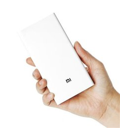 Wholesale External Usb Charger - Original Xiaomi Power Bank 2 20000mAh Portable Charger Dual USB Mi Powerbank External Battery Pack for Iphone Huawei Samsung