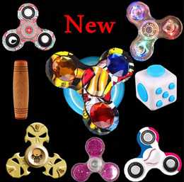 Wholesale Wholesale Floral Cross - new camo Camouflage Tri Fidget Spinner floral Hand Fingertip Spinner Gyro Cross Style EDC Torqbar Handspinner father's day gifts